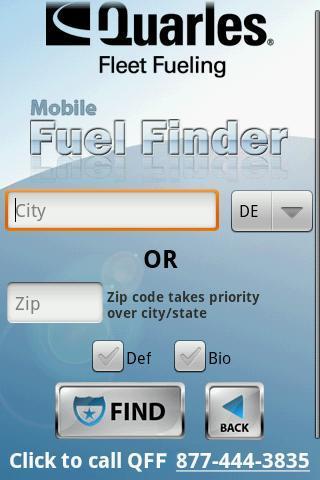 QFF Mobile Fuel Finder