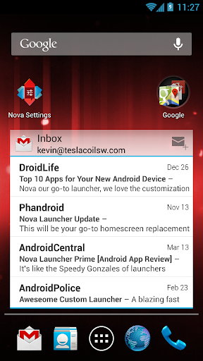 nova-launcher for android screenshot