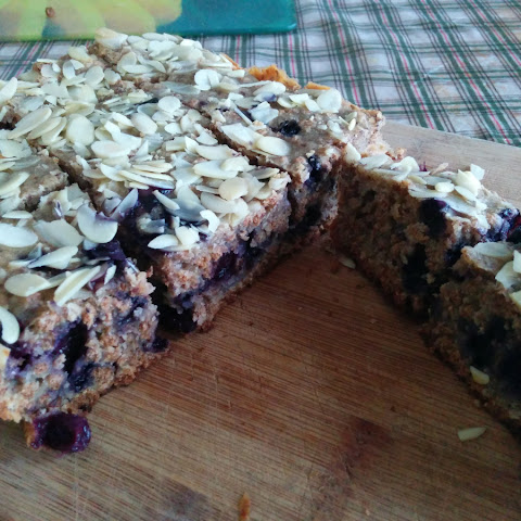 Blueberry Bran Cake (vegan)