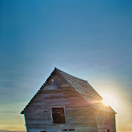 Crooked by Taylor Sanderson - Buildings & Architecture Decaying & Abandoned ( barn, montana, falling, rural, decay, abandoned )