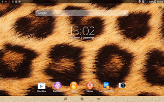 Screenshot of Xperia™ theme African Leopard