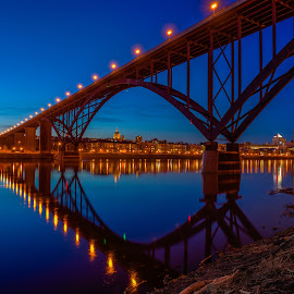 The High Bridge at Night by Mark Goodman - Buildings & Architecture Bridges & Suspended Structures ( photomatix, hdr )
