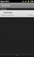 Screenshot of Rainforest. White Noise