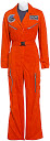 Nadia Schilling's Orange ISO Flight Jumpsuit