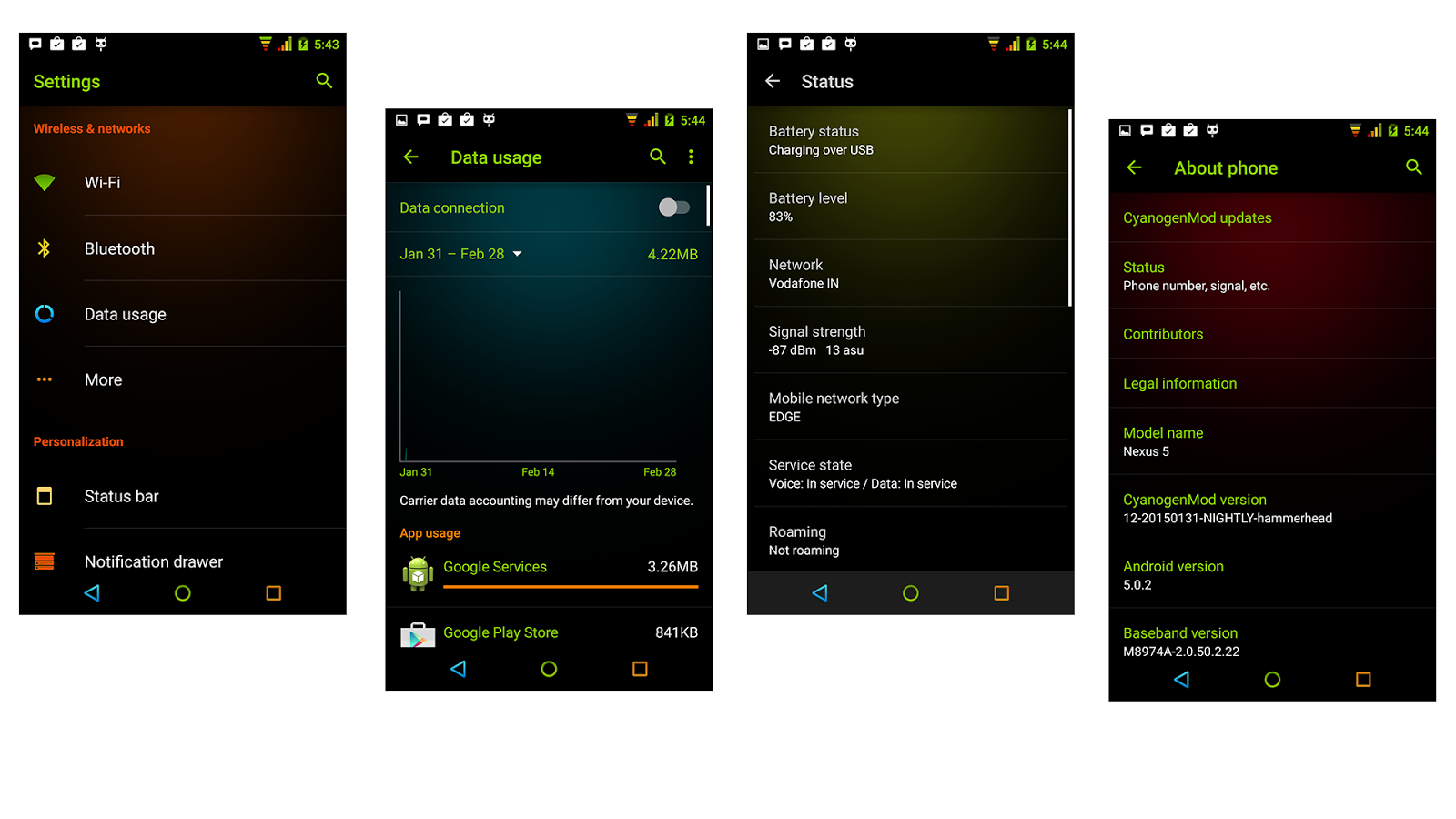 Neon Colors Theme CM 13/12.1 Screenshot 13