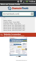 Screenshot of DomainTools Whois Lookup