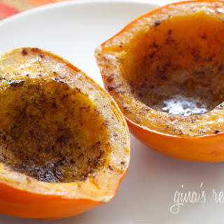 Roasted Acorn Squash with Brown Sugar