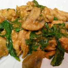 Thai-Inspired Coconut Chicken With Spinach and Mushrooms