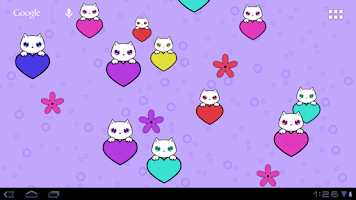 Screenshot of Lily Kitty Heart LiveWallpaper