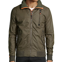 Superdry Moody Bomber Lite Canvas Jacket, True Army - (MEDIUM)