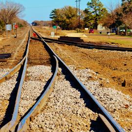 Roadwork Ahead 1702 by Jim Suter - Transportation Railway Tracks