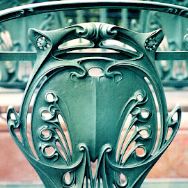 Paris Metro by Timothy Carney - Buildings & Architecture Architectural Detail ( hector guimard, paris, metro, wrought iron )