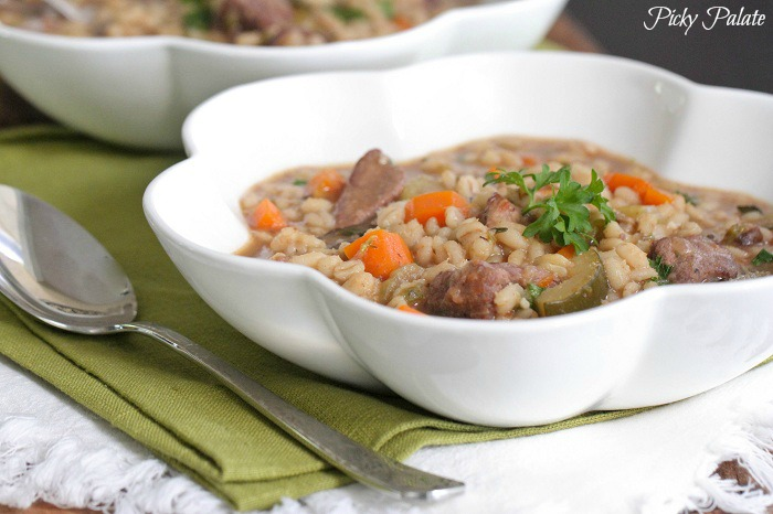 Slow Cooker Beef and Barley Soup Recept | Yummly