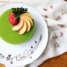 Our anniversary cake ~ Matcha and red bean mousse