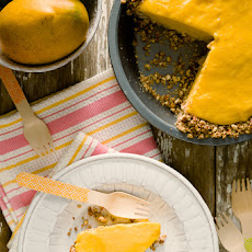 Frozen Mango Margarita Pie with a Pretzel Crust