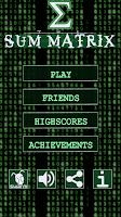 Screenshot of Sum Matrix Numbers Puzzle