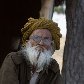 Man With Glasses by Janet Marsh - People Street & Candids ( glasses, india, man,  )