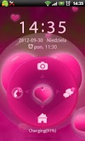 Screenshot of GO Locker Hearts Theme