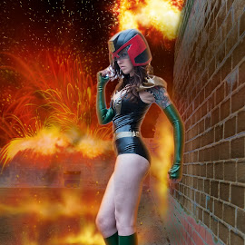Judge Quinn BlockWar by Porlus At Maelstrom - People Body Art/Tattoos ( cosplay, body art, beauty, tattoo, eyes, judge dredd )