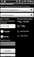 Screenshot of Physics Calculator