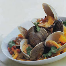 Steamed Clams in Wine and Chorizo