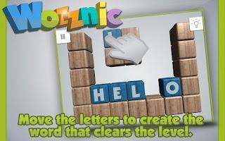 Screenshot of Wozznic: Word puzzle game
