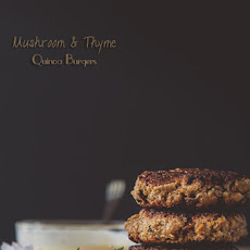 Mushroom Quinoa Burgers with Roasted Garlic & Thyme Mayonnaise