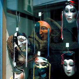 Looking Glass by Guy Harnett - Novices Only Street & Candid ( suny ny, mask, storefront, new paltz, ny )