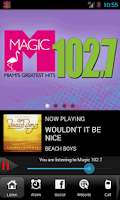 Screenshot of Magic 102.7 / WMXJ Radio