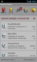 Screenshot of Nudist Compass