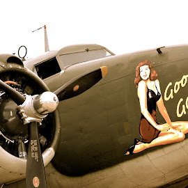 Goodtime by Keith Thies - Transportation Airplanes ( nose art, plane, wwii, vintage, airplane )