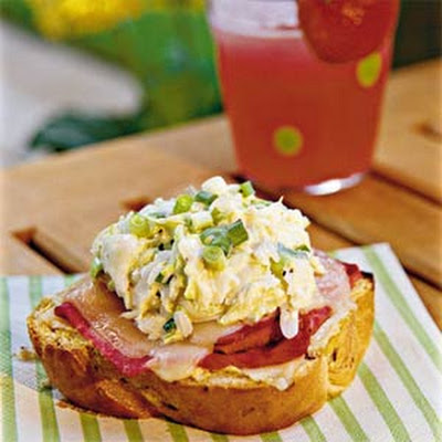 Open-faced Coleslaw Reubens