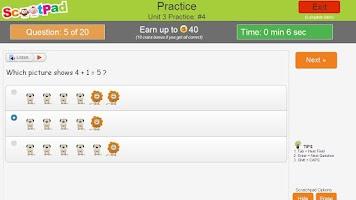 Screenshot of Common Core Mastery