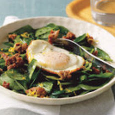 Warm Spinach and Sausage Salad