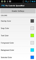Screenshot of Cyanogenmod PieControls Mod