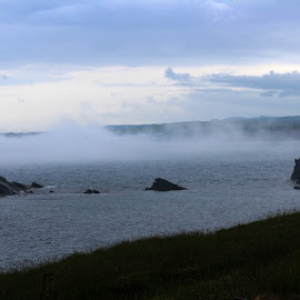 Fog Rolling In by Patti Martin - Landscapes Weather ( foggy, waterscape, fog, weather, ocean,  )