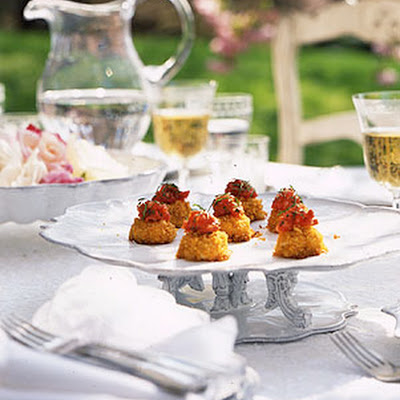 Miniature Crab Cakes with Tomato Ginger Jam
