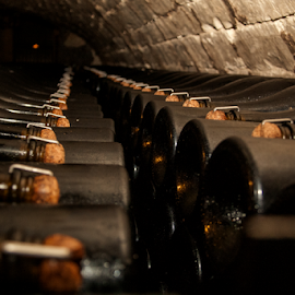 maturation by Mihai  Costea - Artistic Objects Industrial Objects ( champagne, cellar, moet, vault, winery )