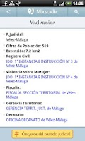 Screenshot of Directorio Ministerio Justicia