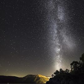 Il cielo stellato su Vulcano by Marco D'abbruzzi - Landscapes Starscapes ( isola, vulcano, vialattea, island, milky way )