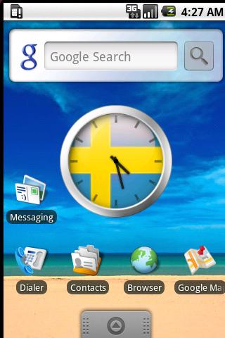Swedish Flag Clock Widget