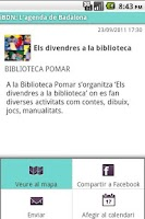 Screenshot of iBDN: Agenda de Badalona