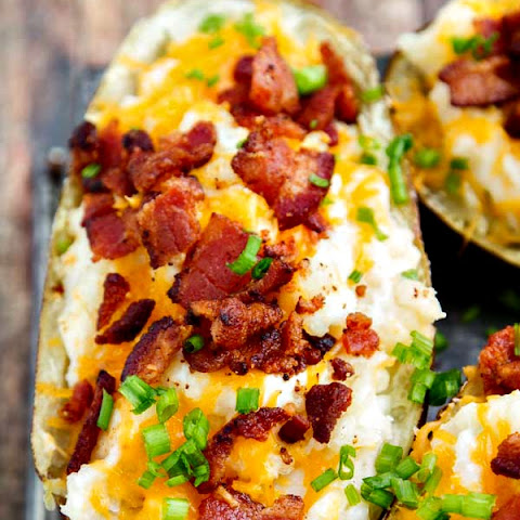 Twice Baked Potatoes Cream Cheese Cheddar Recipes | Yummly