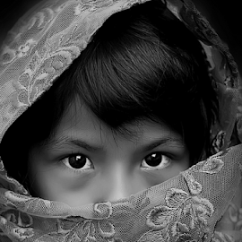 Putri Pertiwi by Yudi Prabowo - Black & White Portraits & People