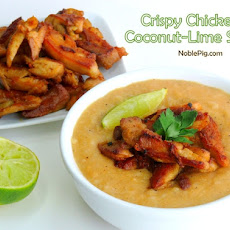 Crispy Chicken Coconut-Lime Soup