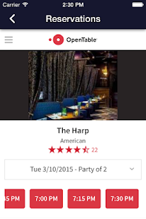 Harp Restaurant - screenshot