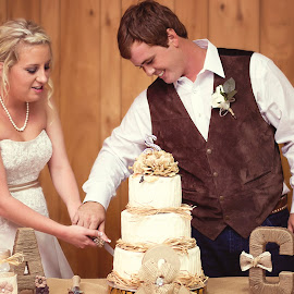 Cutting the Cake by Thea Joy - Wedding Reception ( reception, cake, married, wedding, couple,  )