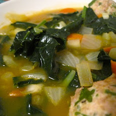 Italian Wedding Soup with Turkey Meatballs