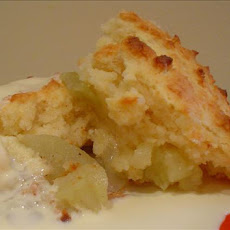 Apples-On-The-Bottom Cobbler