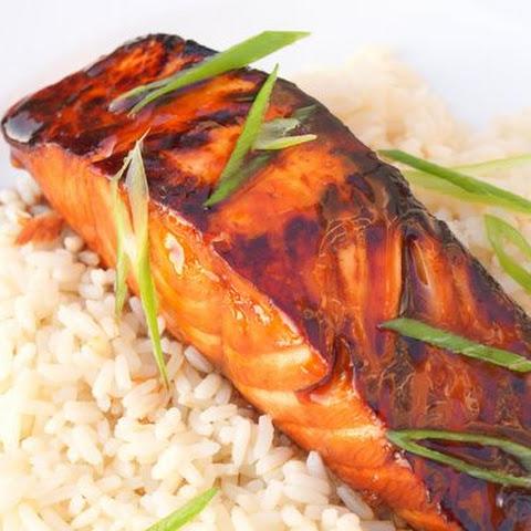 glazed salmon with bok choy sake ginger glazed salmon recipe ...